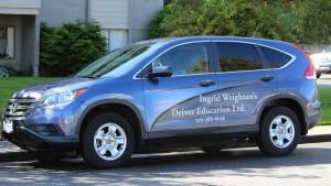 Honda CRX instructors vehicle