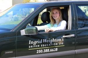 Student of Ingid Weighton's Driver Education